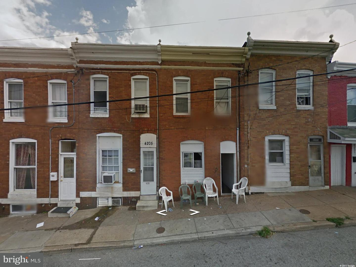 Single Family for Sale at 4203 Lombard St Baltimore, Maryland 21224 United States
