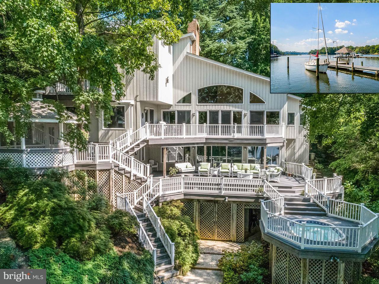 獨棟家庭住宅 為 出售 在 95 Point Somerset Lane 95 Point Somerset Lane Severna Park, 馬里蘭州 21146 美國