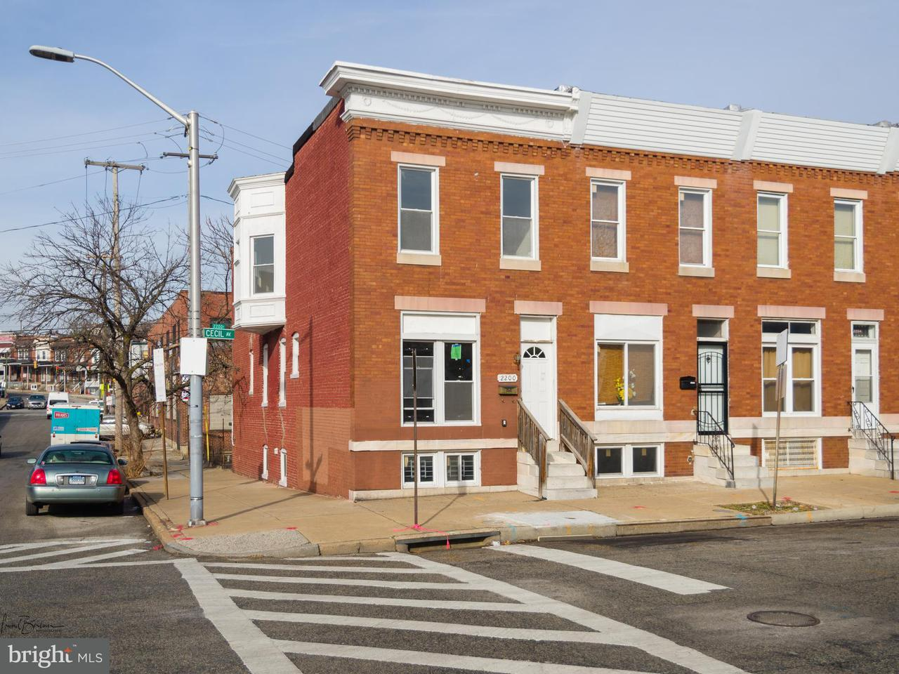 Single Family for Sale at 2200 Cecil Ave Baltimore, Maryland 21218 United States