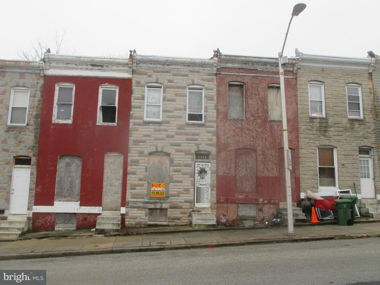 Single Family for Sale at 2545 Hollins St Baltimore, Maryland 21223 United States