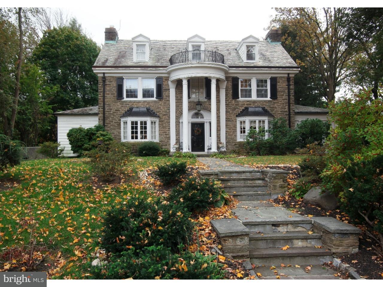 Частный односемейный дом для того Продажа на 34 LATHAM PARK Elkins Park, Пенсильвания 19027 Соединенные Штаты