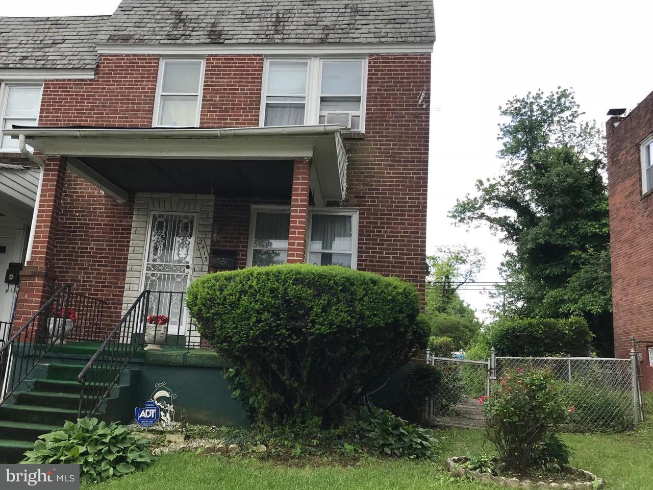 Single Family for Sale at 2413 Keyworth Ave Baltimore, Maryland 21215 United States