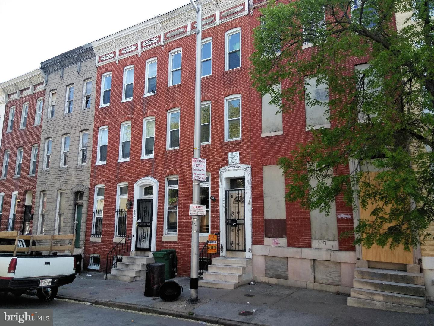 Single Family for Sale at 1808 Druid Hill Ave Baltimore, Maryland 21217 United States