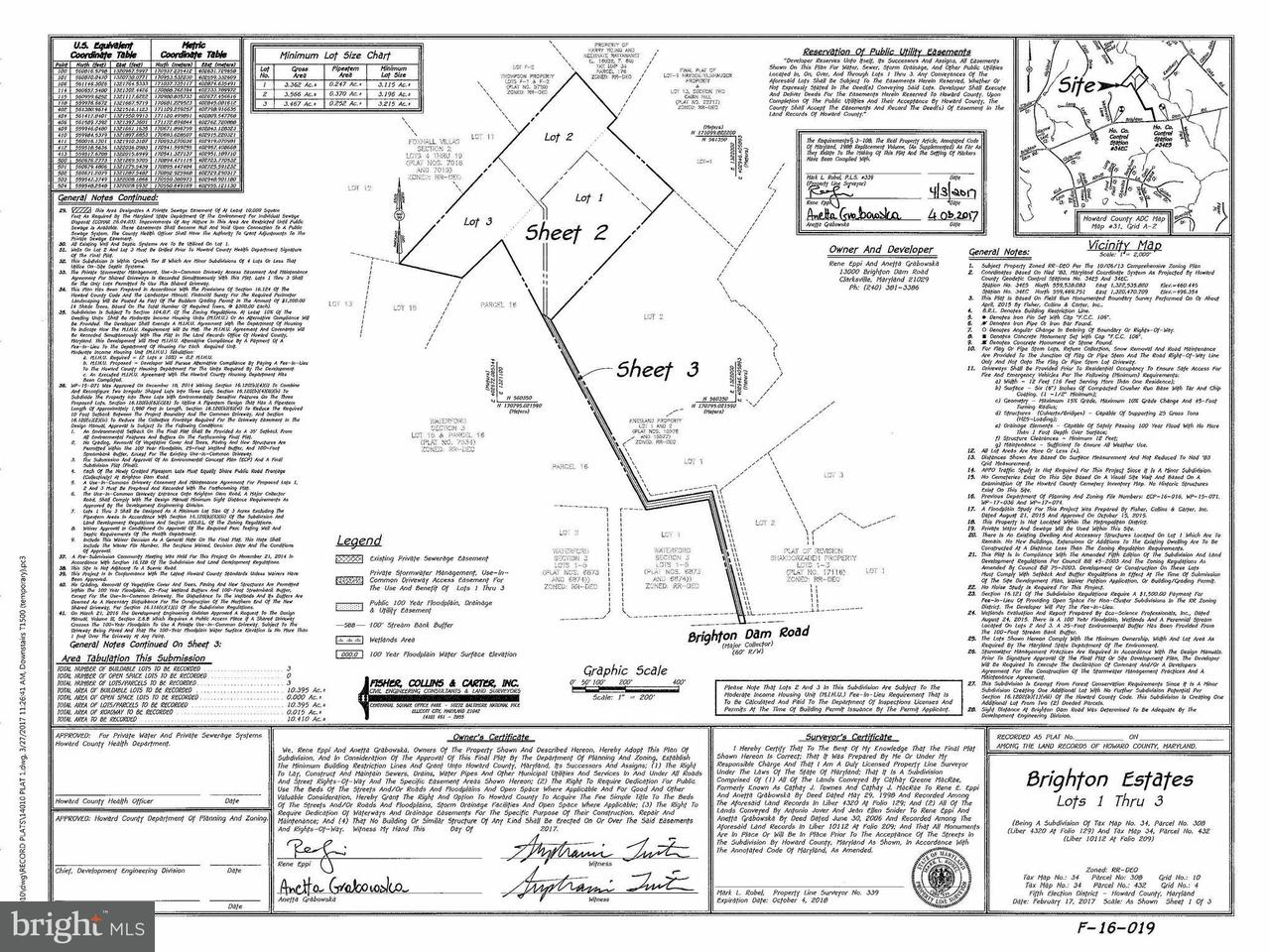 토지 용 매매 에 13000-123 Brighton Dam Road 13000-123 Brighton Dam Road Clarksville, 메릴랜드 21029 미국