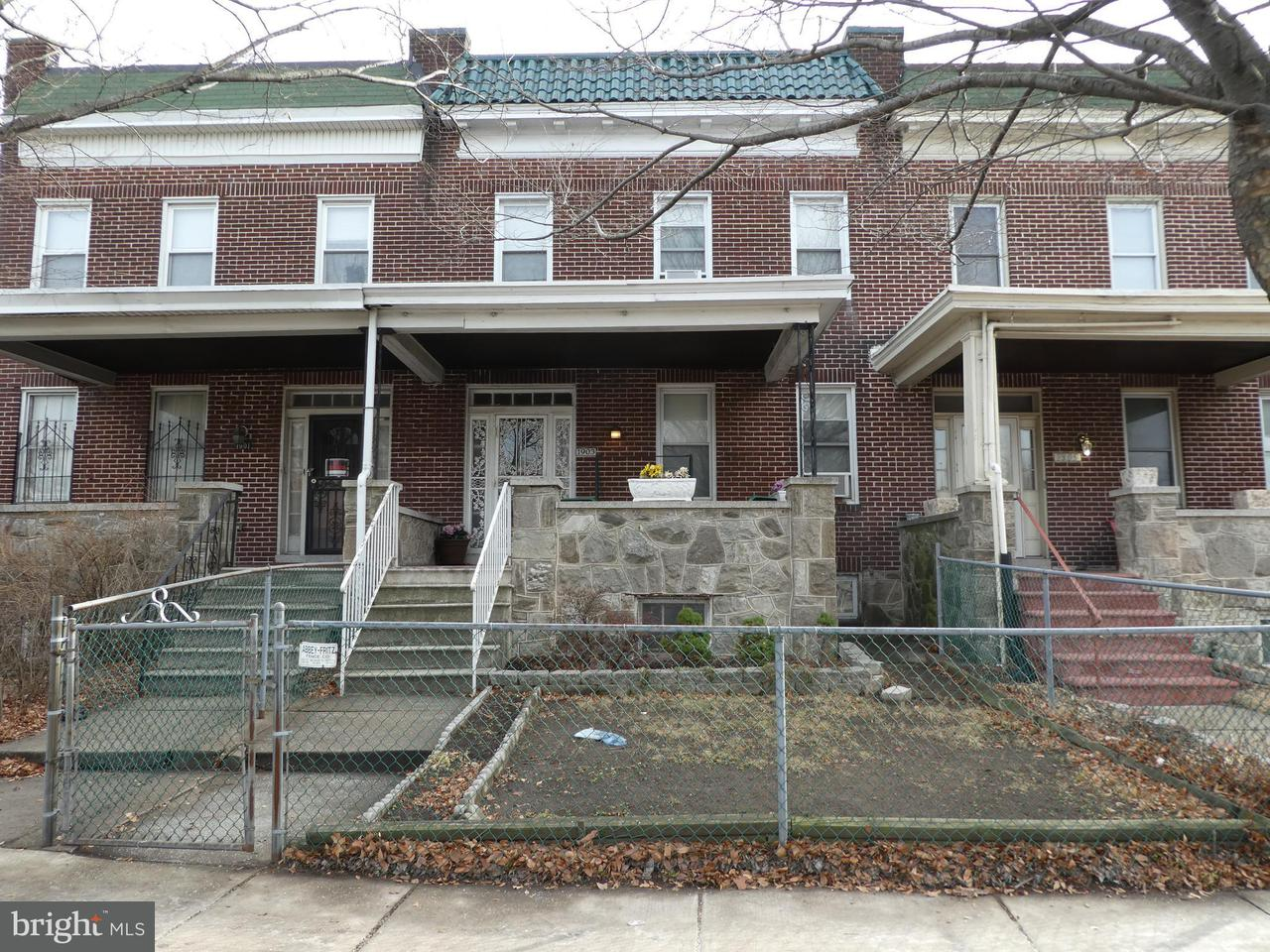 Single Family for Sale at 1903 Gwynns Falls Pkwy Baltimore, Maryland 21217 United States
