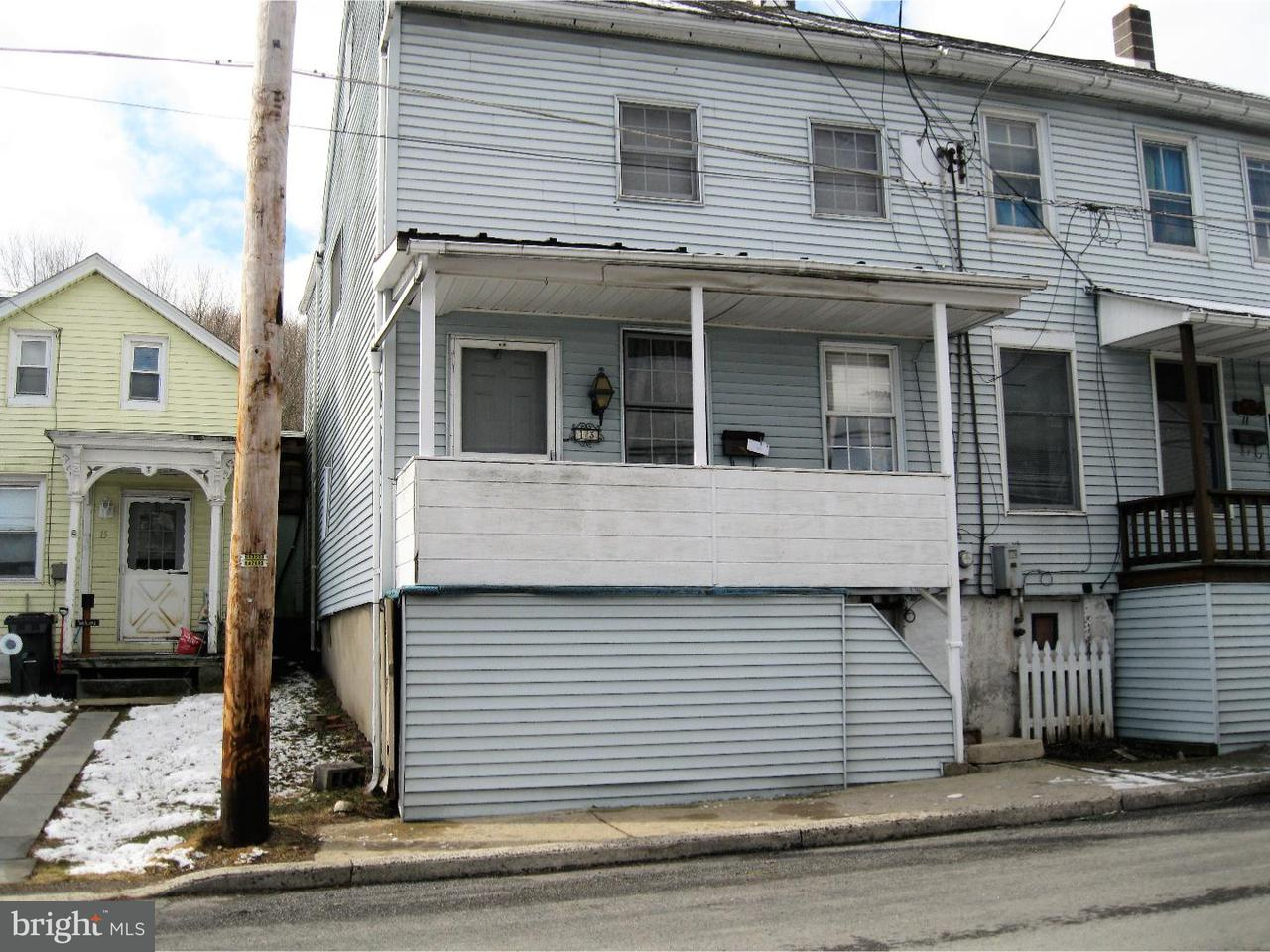 Townhouse for Sale at 13 GRAEFF Street Cressona, Pennsylvania 17929 United States