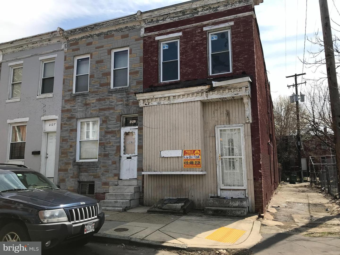 Single Family for Sale at 2131 Fairmount Ave W Baltimore, Maryland 21223 United States