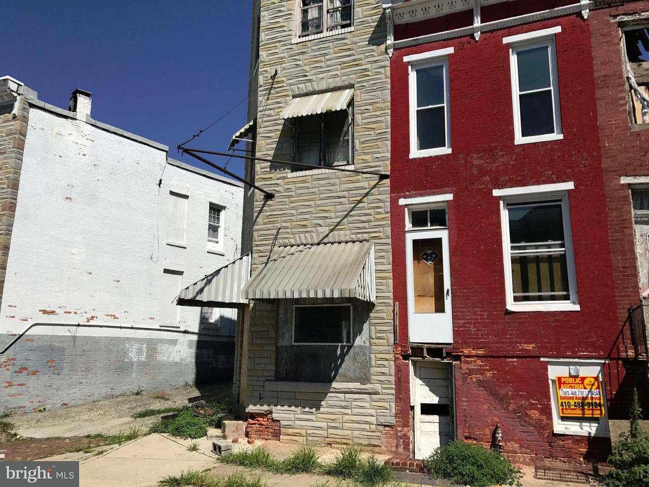 Single Family for Sale at 1924 Frederick Ave Baltimore, Maryland 21223 United States