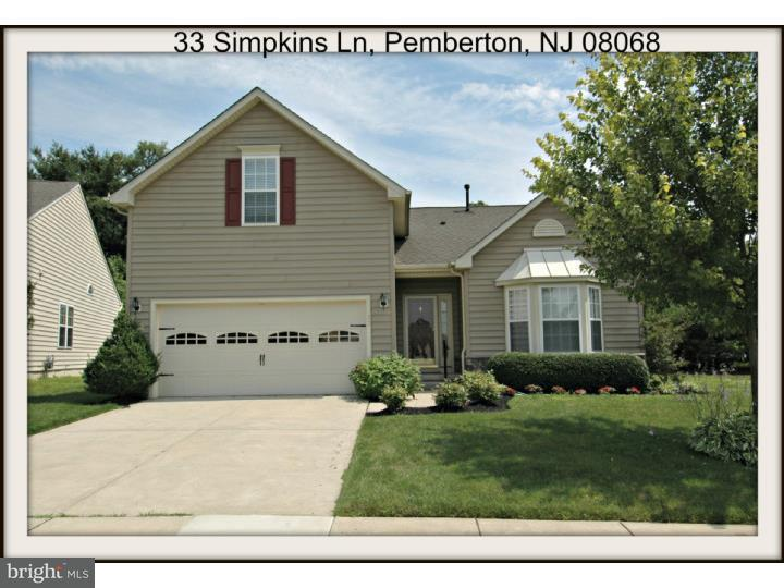 Casa Unifamiliar por un Venta en 33 SIMPKINS Lane Pemberton, Nueva Jersey 08068 Estados Unidos