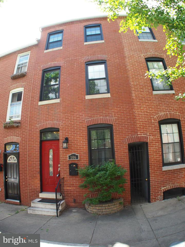 Single Family for Sale at 106 Wolfe St S Baltimore, Maryland 21231 United States
