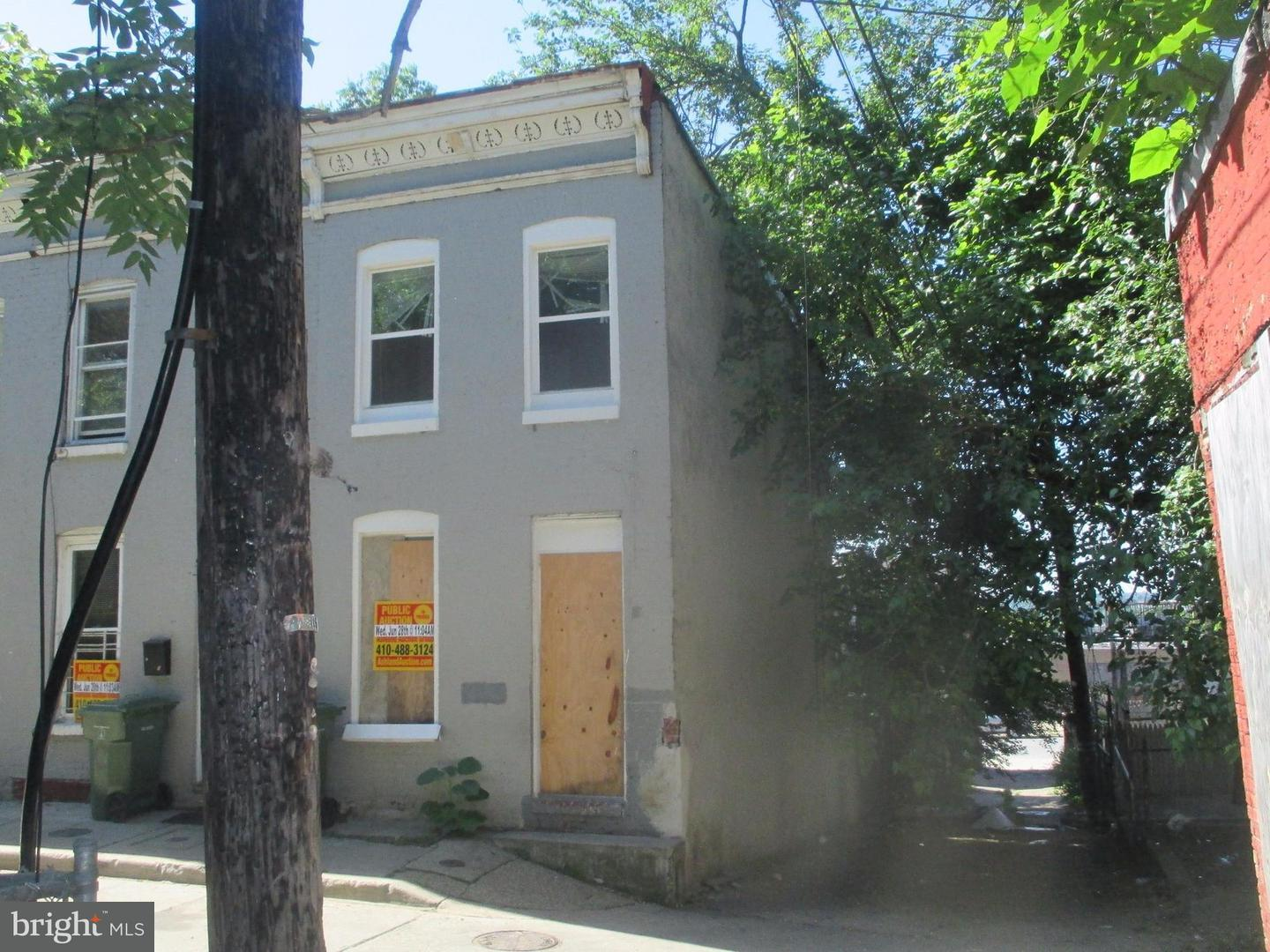 Single Family for Sale at 1947 Booth St Baltimore, Maryland 21223 United States