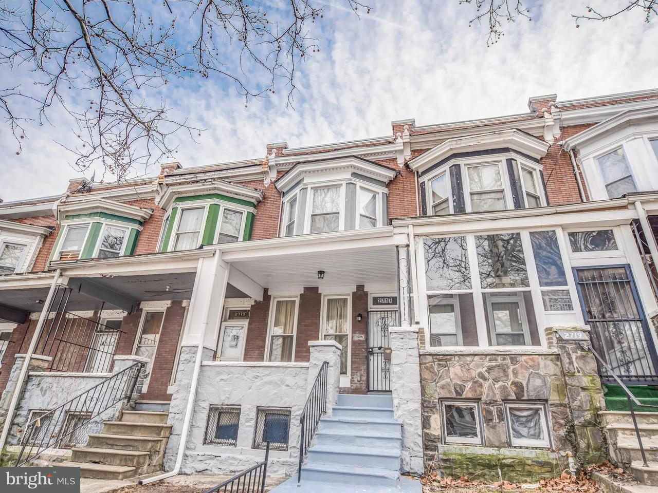Single Family for Sale at 2717 Mosher St Baltimore, Maryland 21216 United States