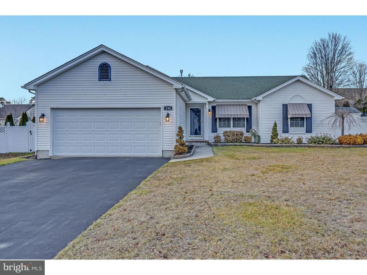 Частный односемейный дом для того Продажа на 136 CRUISE Road Manahawkin, Нью-Джерси 08050 Соединенные Штаты