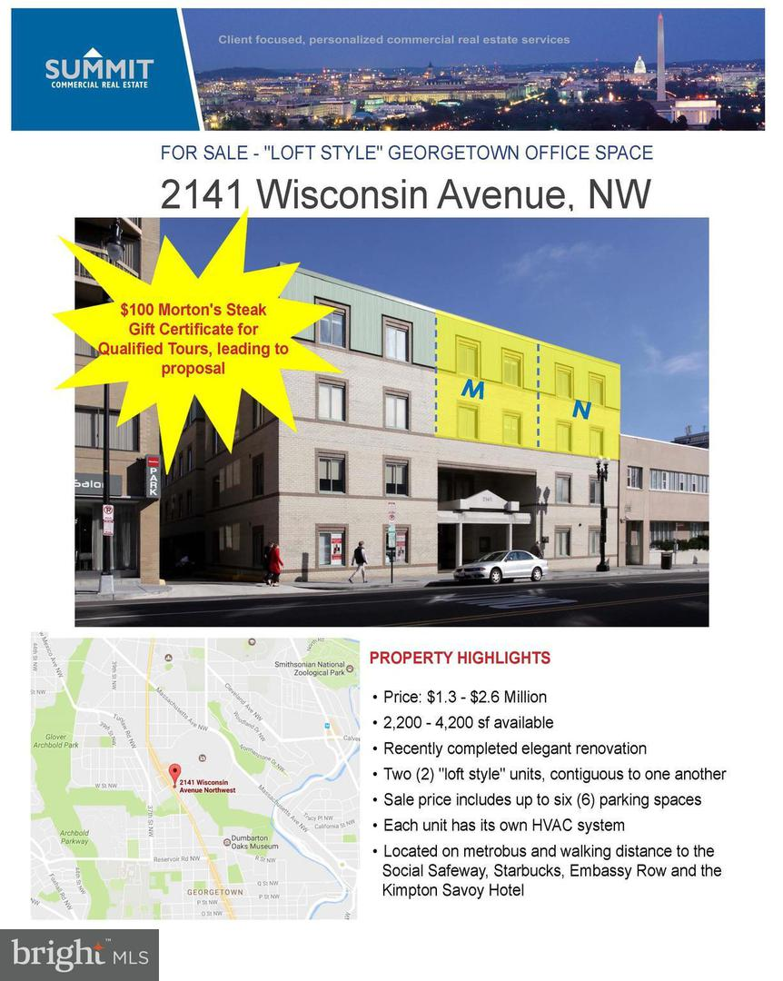 Commercial for Sale at 2141 Wisconsin Ave NW #n Washington, District Of Columbia 20007 United States