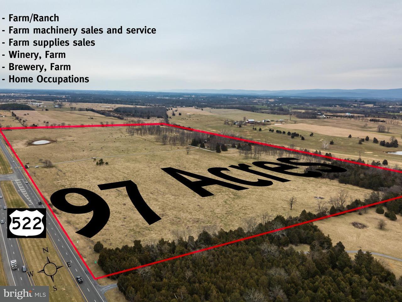Land voor Verkoop een t 4581 Stone Wall Jackson Hwy 4581 Stone Wall Jackson Hwy White Post, Virginia 22663 Verenigde Staten