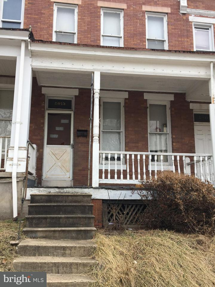 Single Family for Sale at 2013 Longwood St Baltimore, Maryland 21216 United States