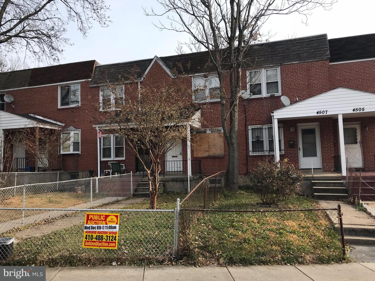 Single Family for Sale at 4509 Pall Mall Rd Baltimore, Maryland 21215 United States