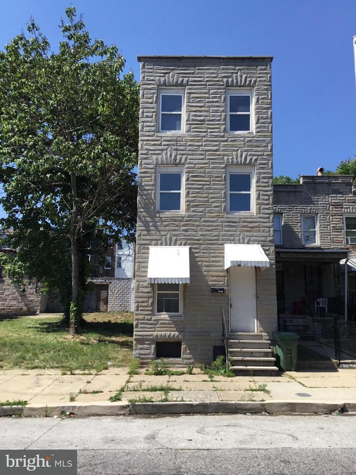 Single Family for Sale at 1834 W Lombard St Baltimore, Maryland 21223 United States