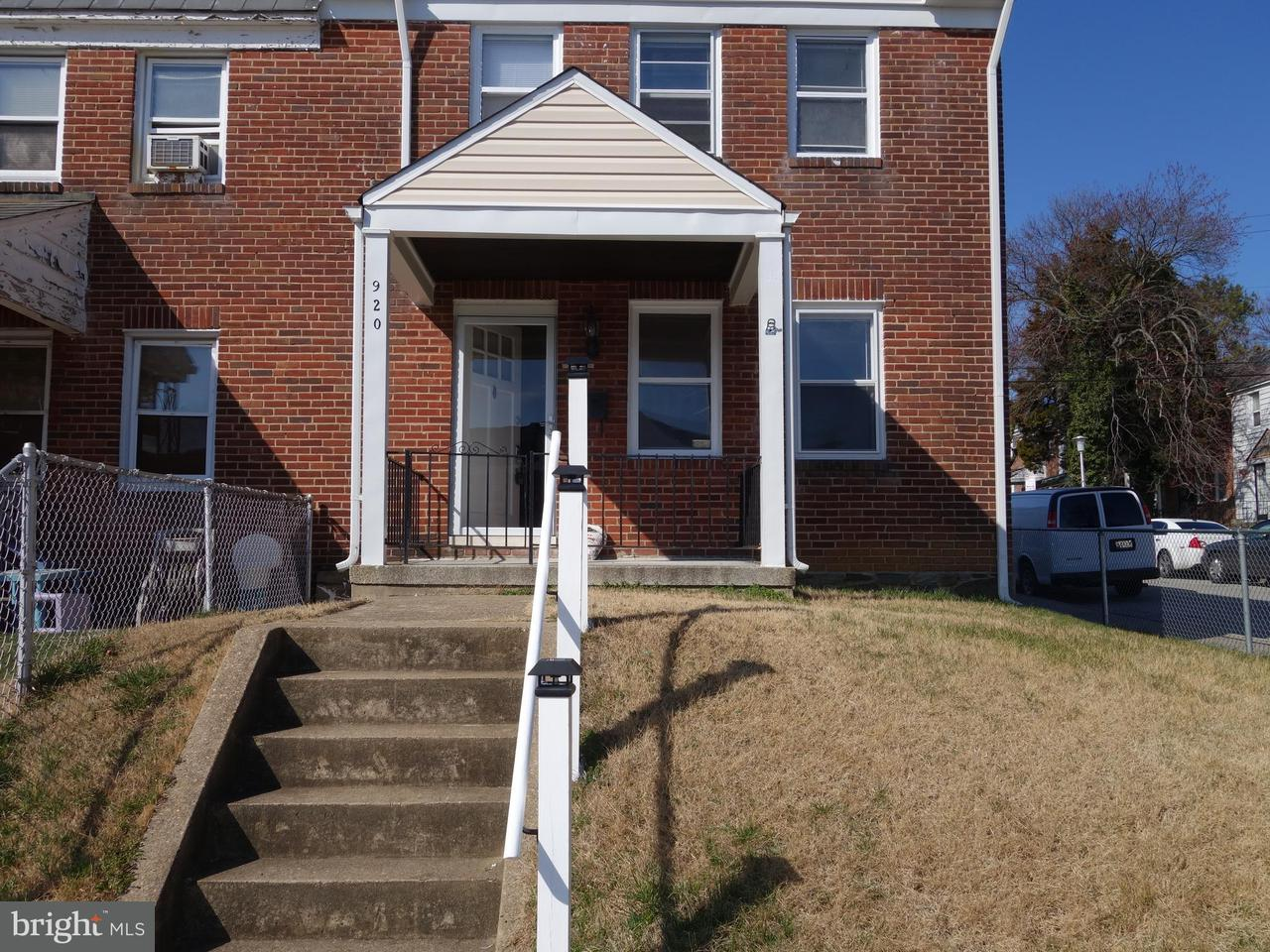 Single Family for Sale at 920 Lyndhurst St Baltimore, Maryland 21229 United States