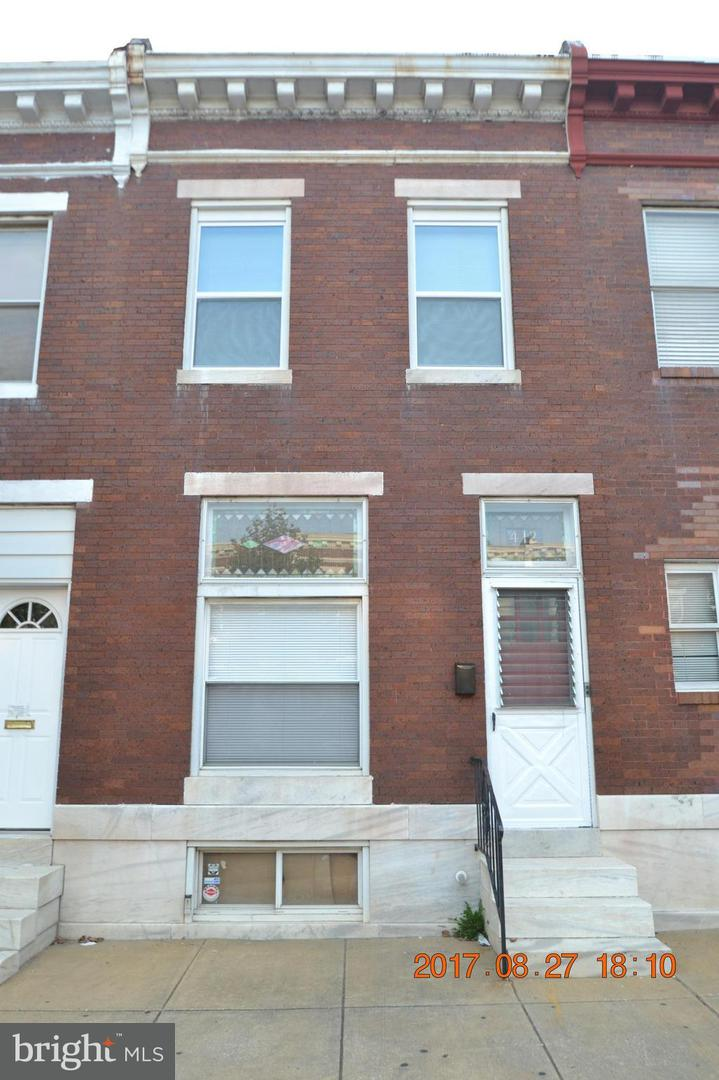 Other Residential for Rent at 412 Linwood Ave N Baltimore, Maryland 21224 United States