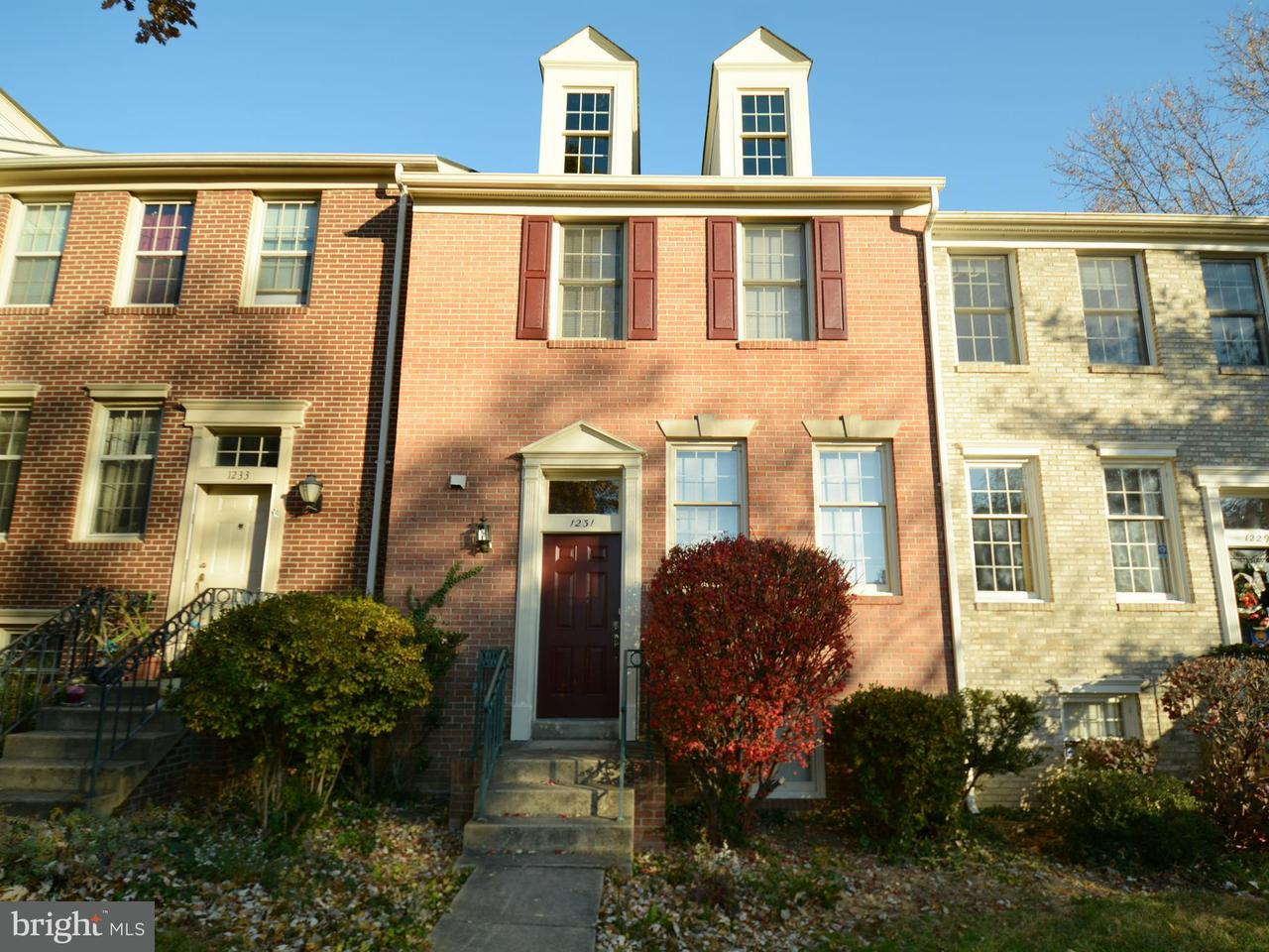 Townhouse for Sale at 1231 Quaker Hill Drive 1231 Quaker Hill Drive Alexandria, Virginia 22314 United States