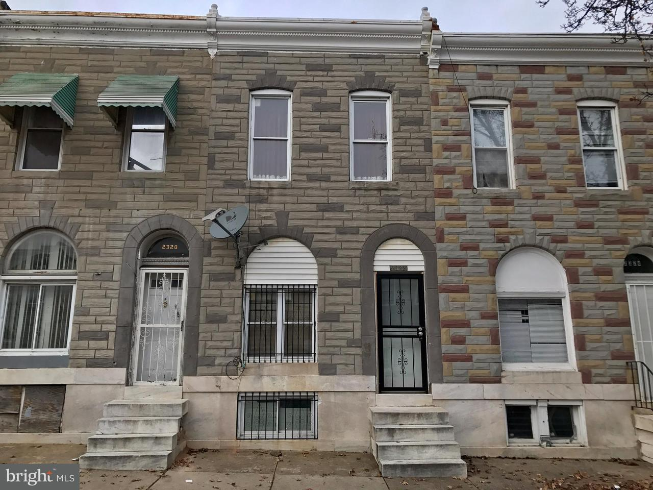 Single Family for Sale at 2322 Hoffman St Baltimore, Maryland 21213 United States