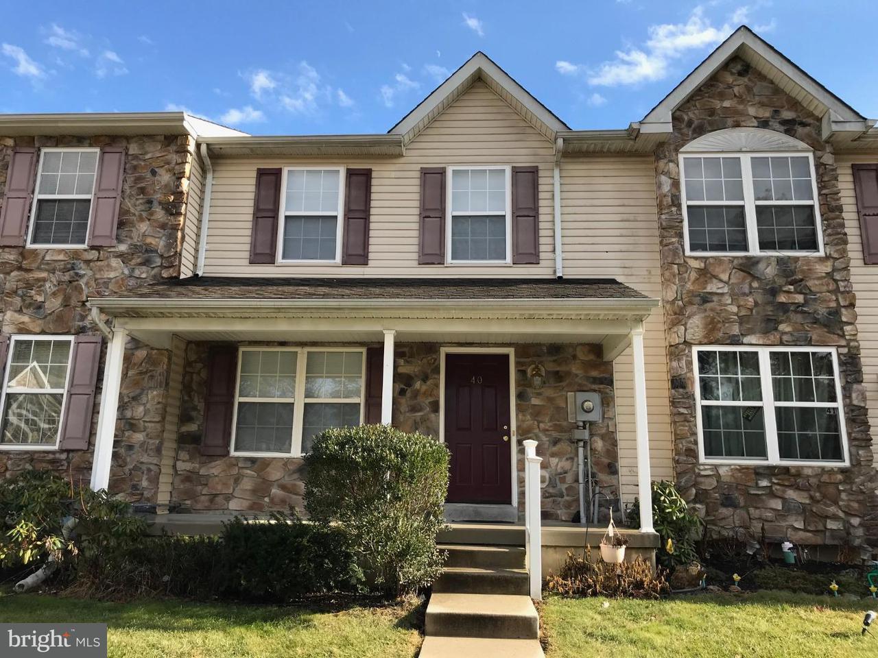 Casa unifamiliar adosada (Townhouse) por un Alquiler en 40 NORMANS FORD Drive Sicklerville, Nueva Jersey 08081 Estados Unidos