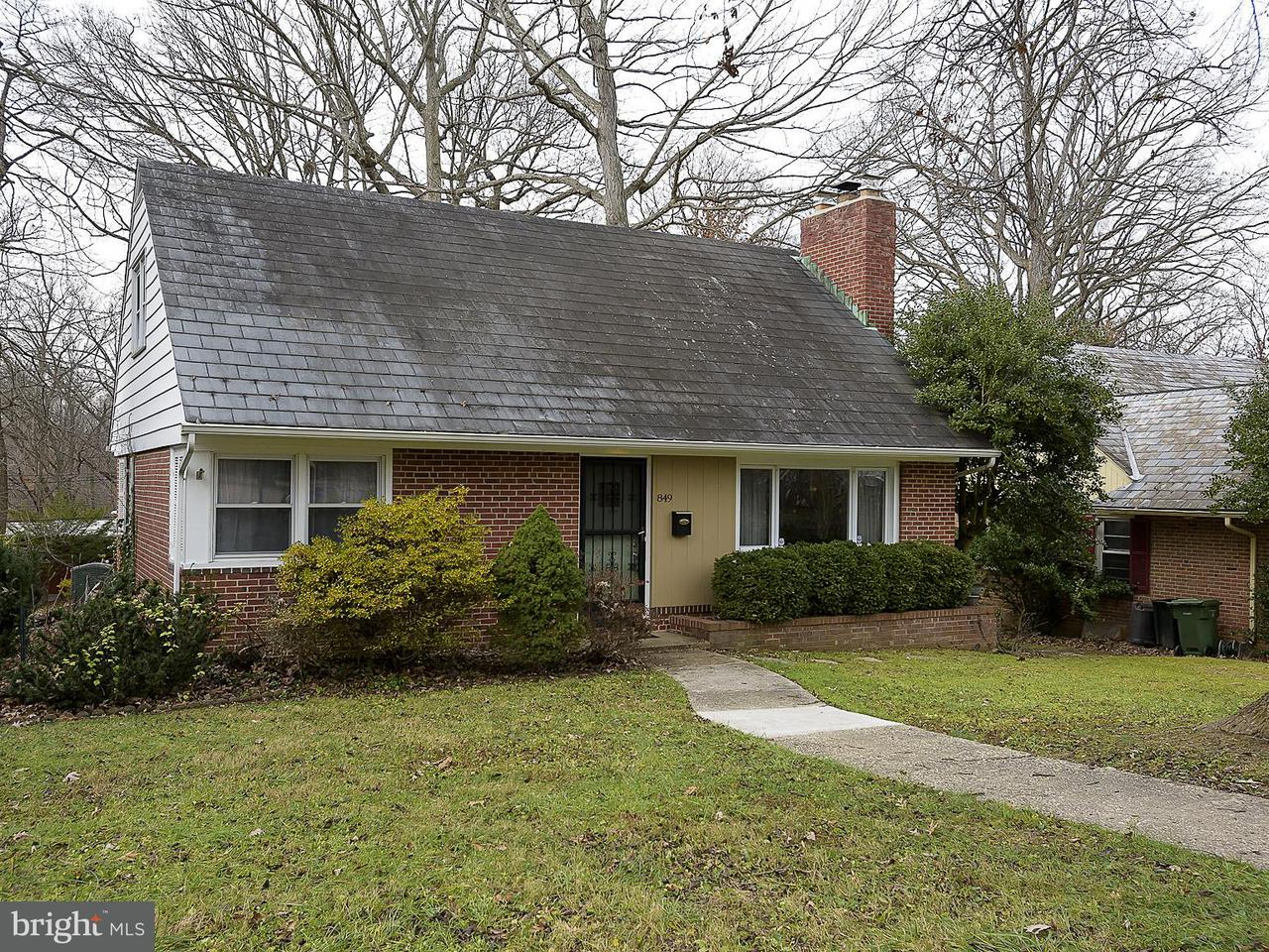 Single Family for Sale at 849 Glen Allen Dr Baltimore, Maryland 21229 United States