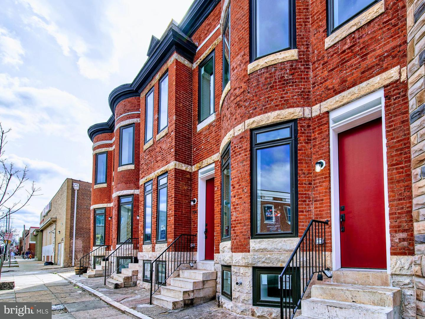 Single Family for Sale at 726 Patterson Park Ave N Baltimore, Maryland 21205 United States