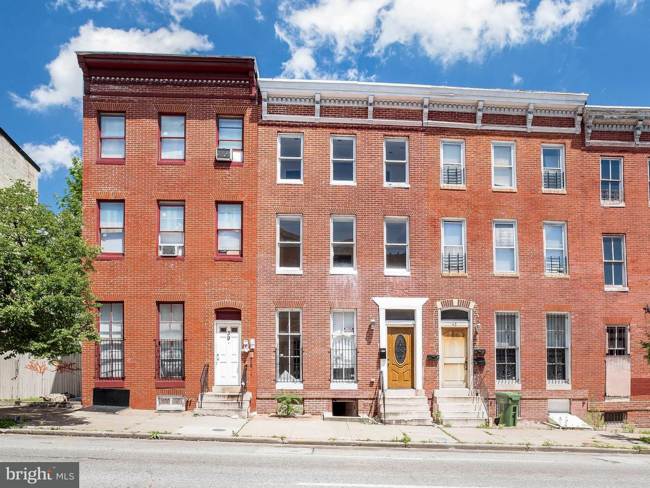 Single Family for Sale at 41 Fulton Ave Baltimore, Maryland 21223 United States