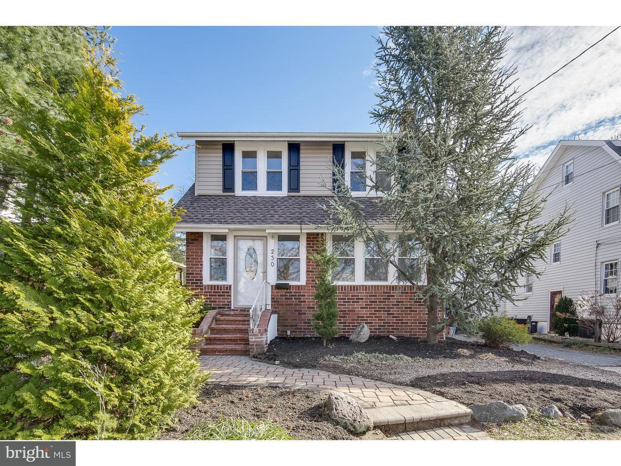 Maison unifamiliale pour l Vente à 230 STRAWBRIDGE Avenue Haddon Township, New Jersey 08108 États-Unis