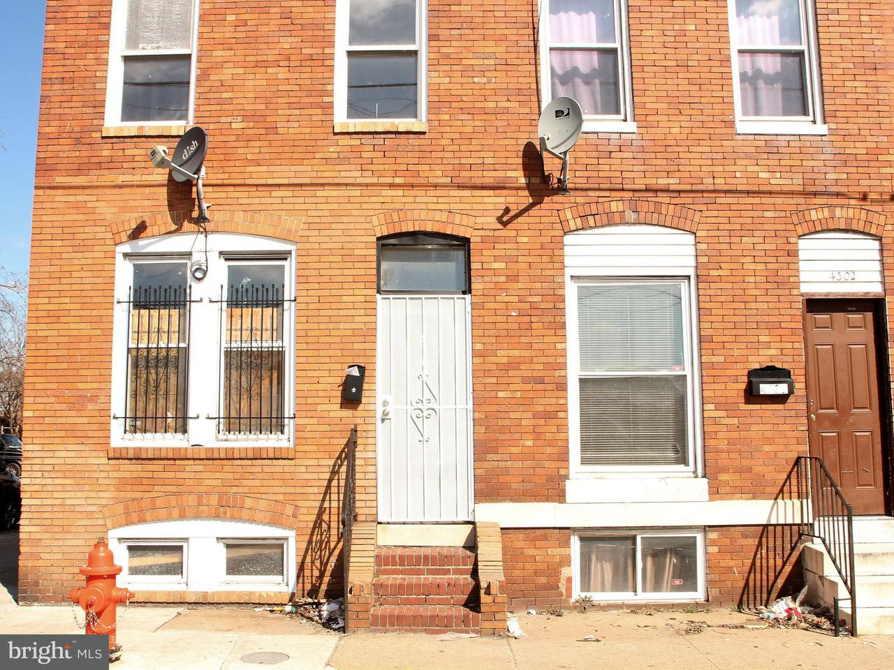 Single Family for Sale at 4300 Lombard St Baltimore, Maryland 21224 United States