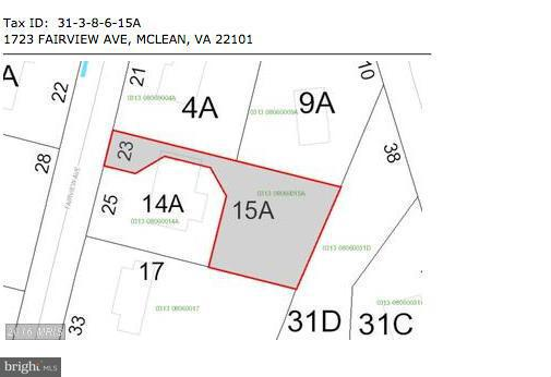 Land for Sale at 1723 Fairview Ave McLean, Virginia 22101 United States