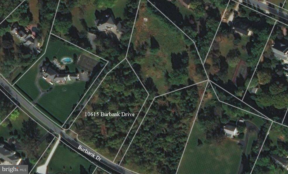 토지 용 매매 에 10615 Burbank Drive 10615 Burbank Drive Potomac, 메릴랜드 20854 미국