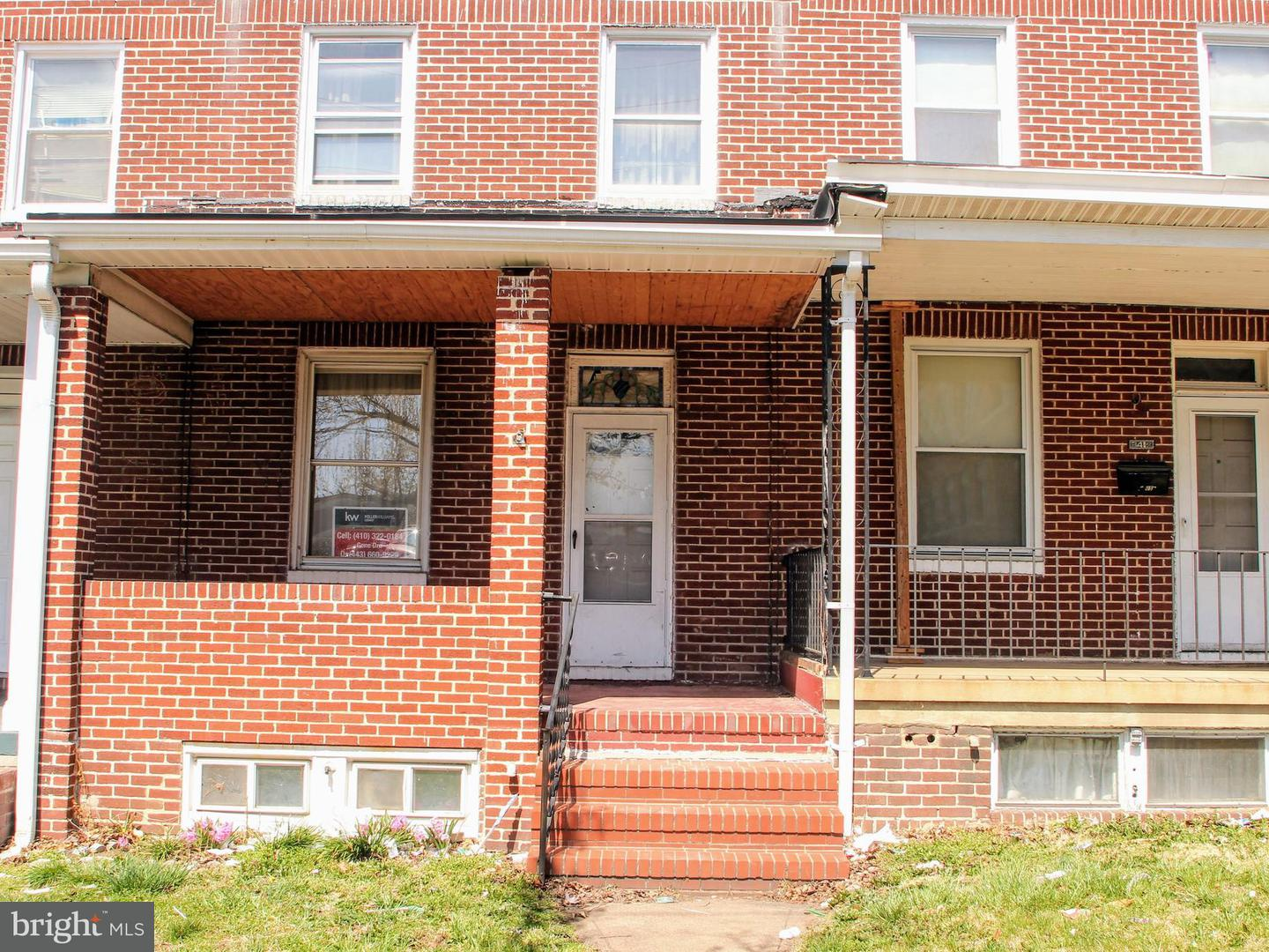 Single Family for Sale at 3414 Wilkens Ave Baltimore, Maryland 21229 United States